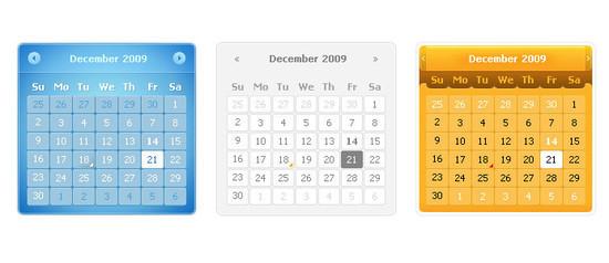 Calendars PSD