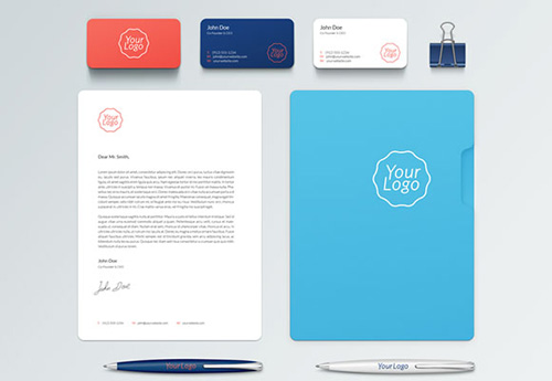 Corporate and stationary mockup