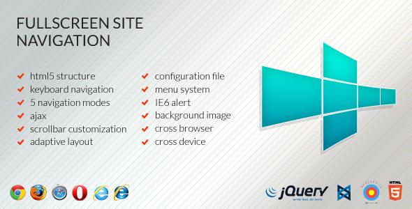 Fullscreen Site Navigation