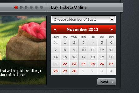 Tickets Calendar