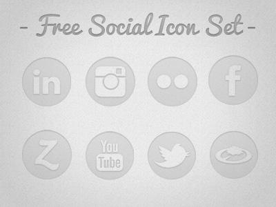 Translucent Circle Social Media Icons