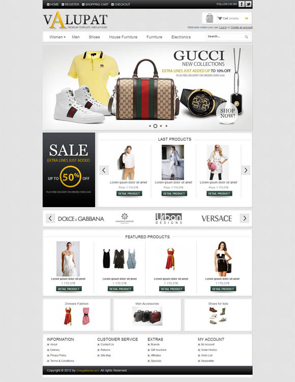 Free Responsive ECommerce Templates And Websites For Your - Dreamweaver ecommerce templates
