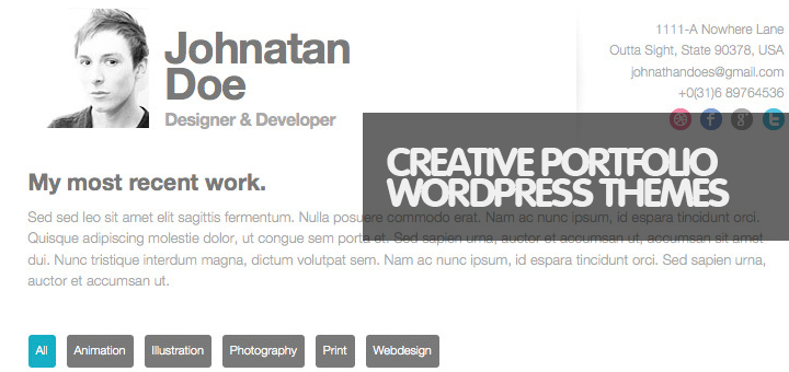 45 Top Responsive Minimal WordPress Portfolio Themes