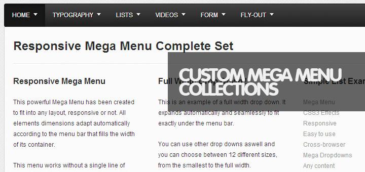 50 Powerful JavaScript Navigation Menus, Fullwidth Mega Menus
