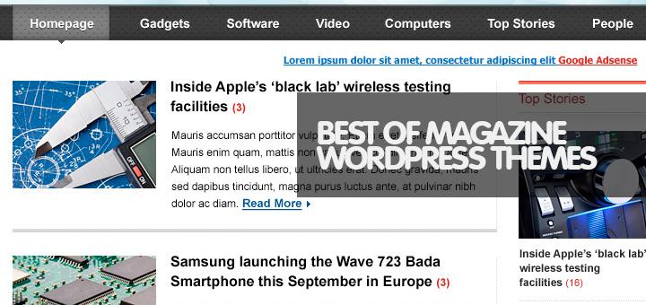50 Best of Best Responsive WordPress Magazine Themes