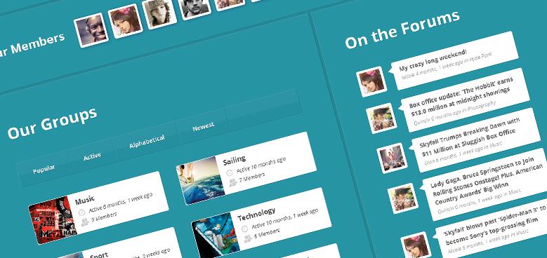 20 Powerful Responsive WordPress Community Themes Compatible with BuddyPress