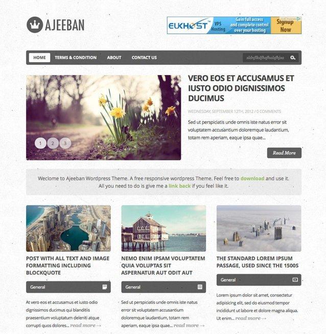 wordpress blog themes free
