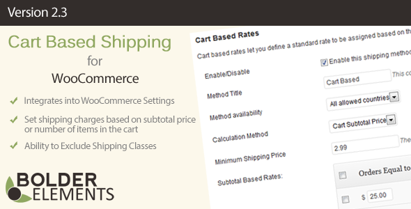 Cart-Based-Shipping