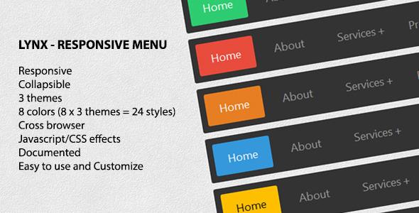 40+ Beautiful Responsive JavaScript Navigation Menu for