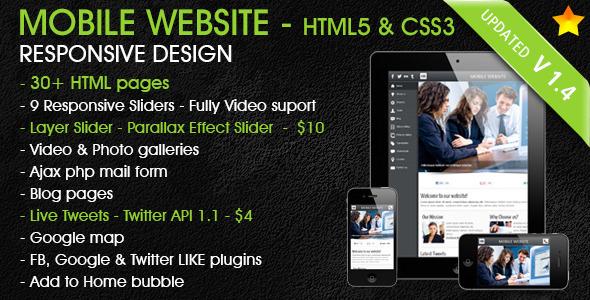 Mobile Web Template