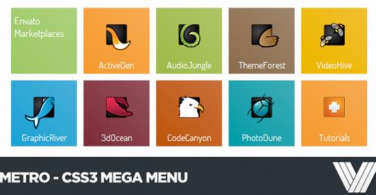 30+ Premium CSS3 Responsive Drop Down Menu Examples