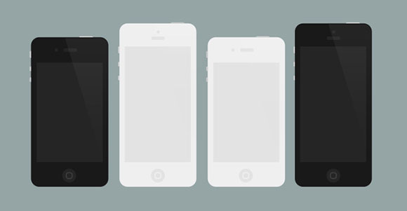 Vector iphone   Iphone 5 Template Vector