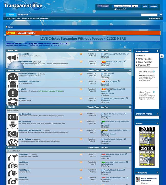 free vbulletin forum skins
