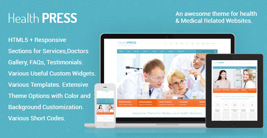 47+ Best Premium WordPress Health Themes – WP Personal Care Themes