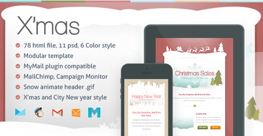 36+ Custom Design Premium Christmas Email Templates