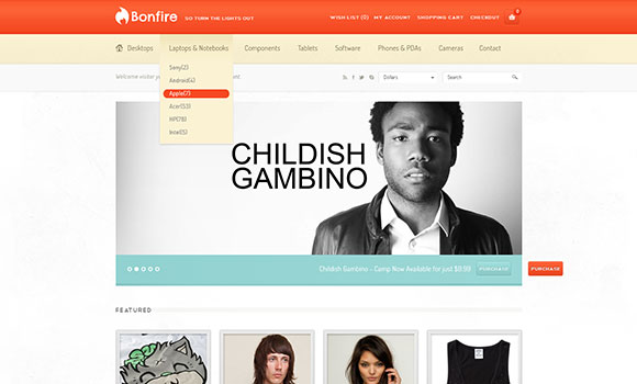 bonfire-ecommerce-free-website-template