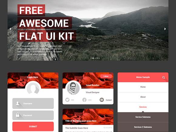 Free-Awesome-Flat-UI-KIT