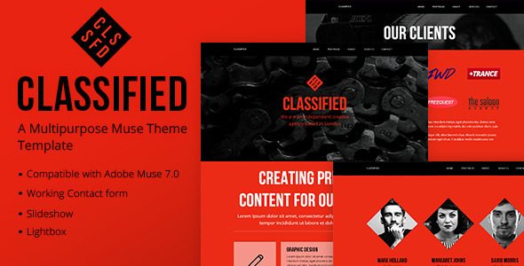 50+ Latest Adobe Muse Templates for 2014 Collection