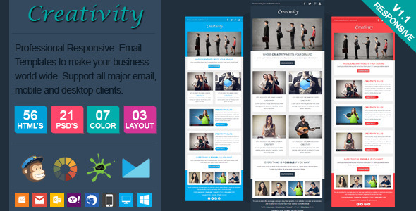 51 best responsive html email template of 2014 creativity clean responsive email template spiritdancerdesigns Images