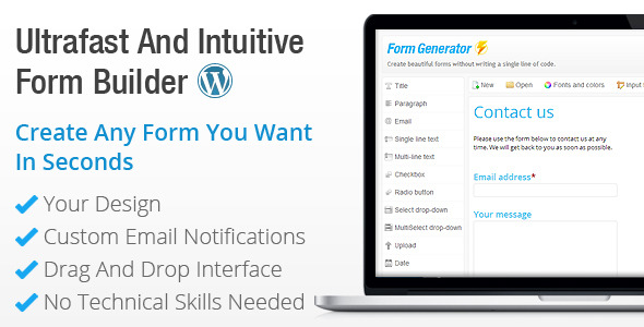 wordpress-form-generator