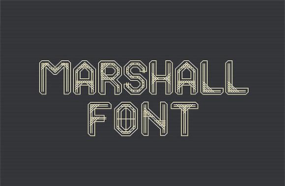 marshall-free-font