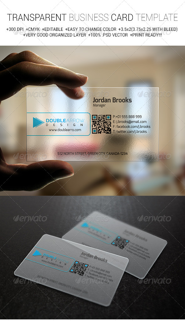 transparent Corporate Business Cards