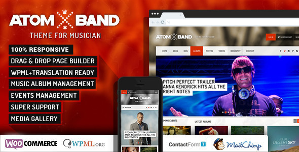 25+ Responsive Entertainment WordPress Theme