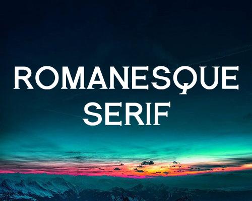 romanesque-serif