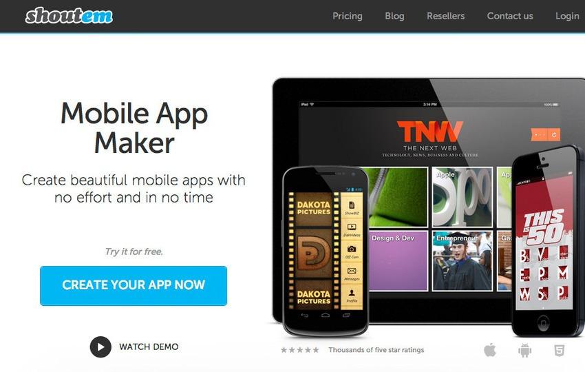 30 Free Mobile App Builder Online