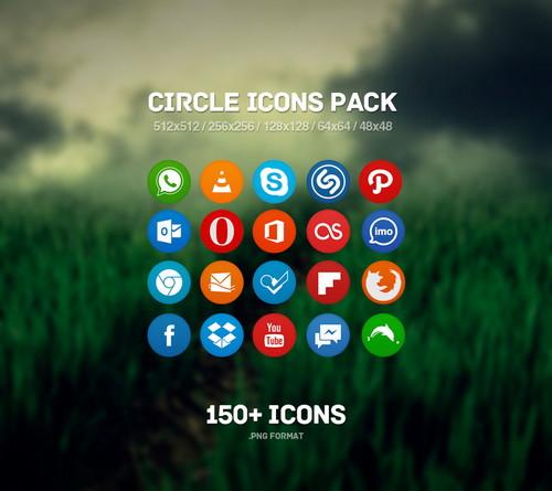 100+ Circle Icons Sets
