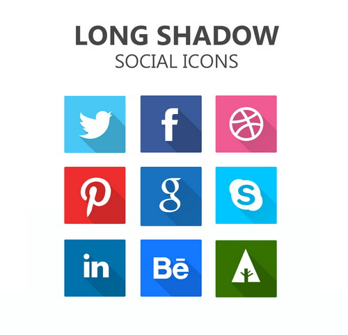 Shadow Social Icons PSD