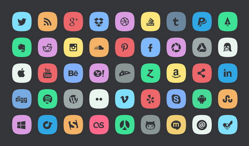 25 Amazing Free Social Media Icons and Buttons Sets