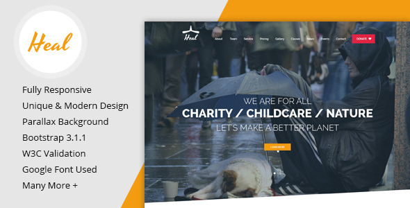 10 Latest Non Profit WebSite Templates