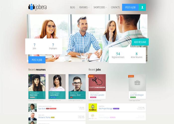 20+ Professional Job Portal WordPress Themes with Listings Boards