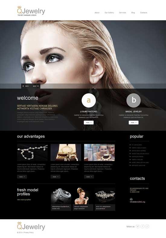 25+ Elegant Jewellery  Design Shop WordPress Themes