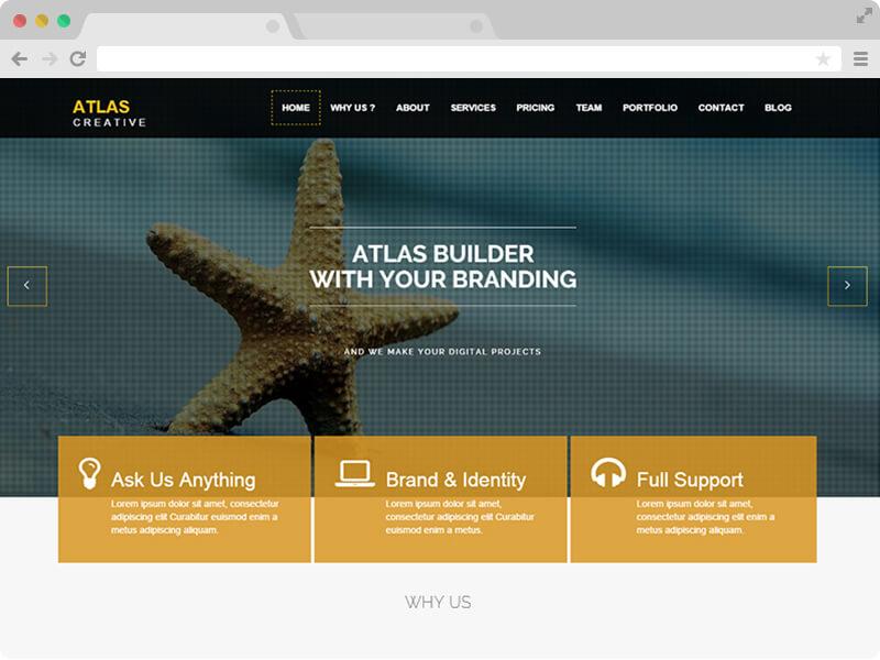 "<span itemprop=""name"">Atlas – Free One Page HTML5 Theme</span>"